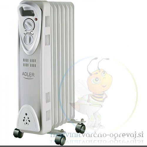 Adler 7807 oljni radiator, bel