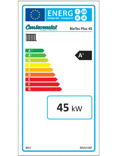 Centrometal Biotec PLUS 45 energetska izkaznica